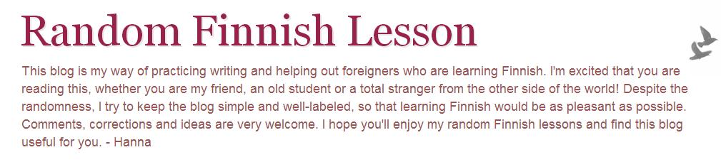 Random Finnish Lesson | Finnish Resources
